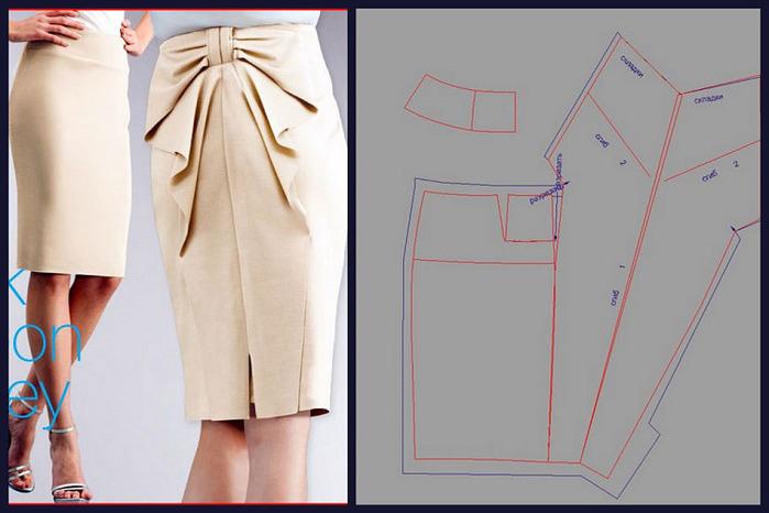сшить юбку-шаблоны выкроек (700x466, 85Kb)