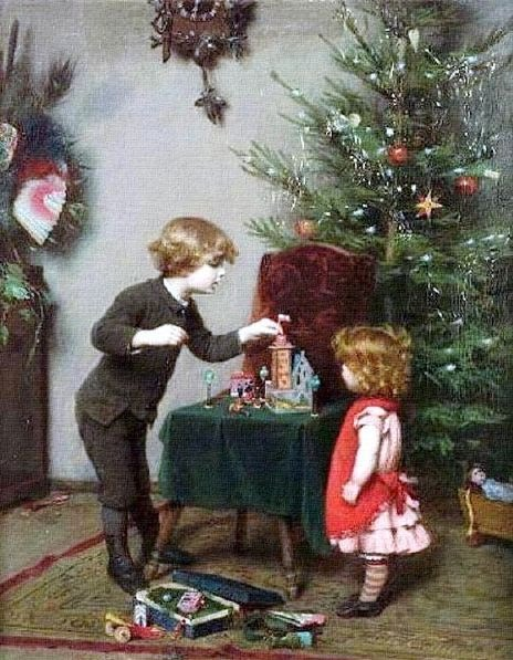2 Felix Ehrlich (German artist, 1866–1931) Christmas (464x597, 78Kb)