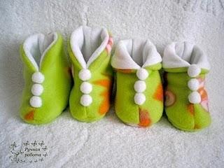 Своими руками пинетки для детей