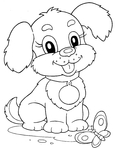 Превью щенок (544x700, 110Kb)