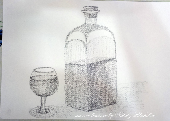 Натюрморт картинки простым карандашом 3
