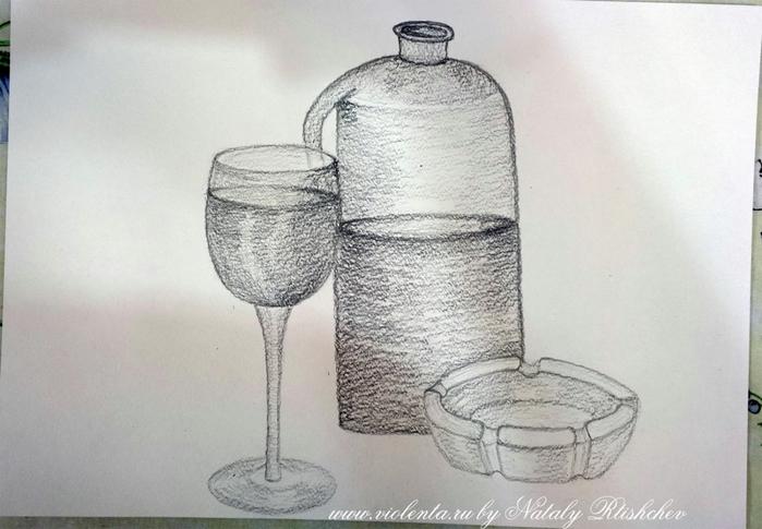 Натюрморт картинки простым карандашом 5