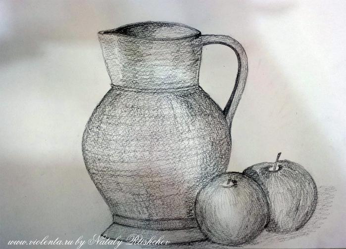 Натюрморт картинки простым карандашом 2