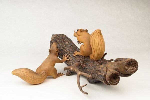 деревянные скульптуры фото 1 (600x400, 35Kb)
