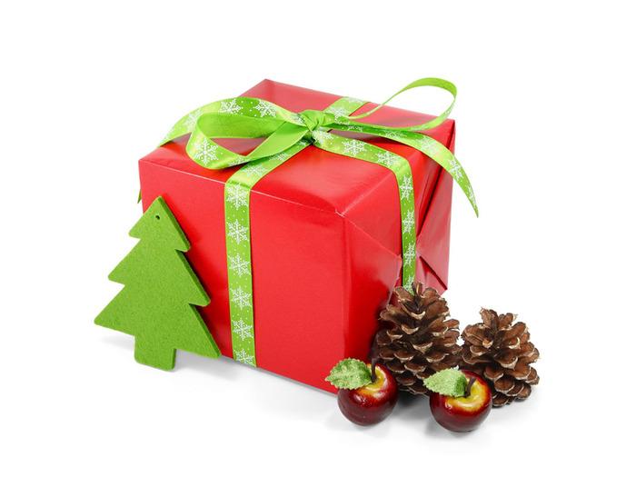 Новогодние подарки в фотошоп