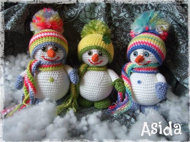 Снеговик вязаный мастер класс
