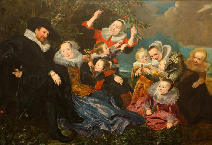 Pieter SOUTMAN, Paulus van Beresteyn (1588 - 1636) et son épouse Catarina Both van der Eem avec leurs six enfants et deux servantes (700x479, 434Kb)