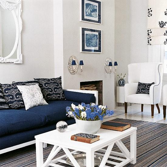 Blue Interior Design Living Room Color Scheme