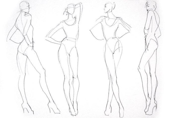 Шаблоны для fashion эскизов08