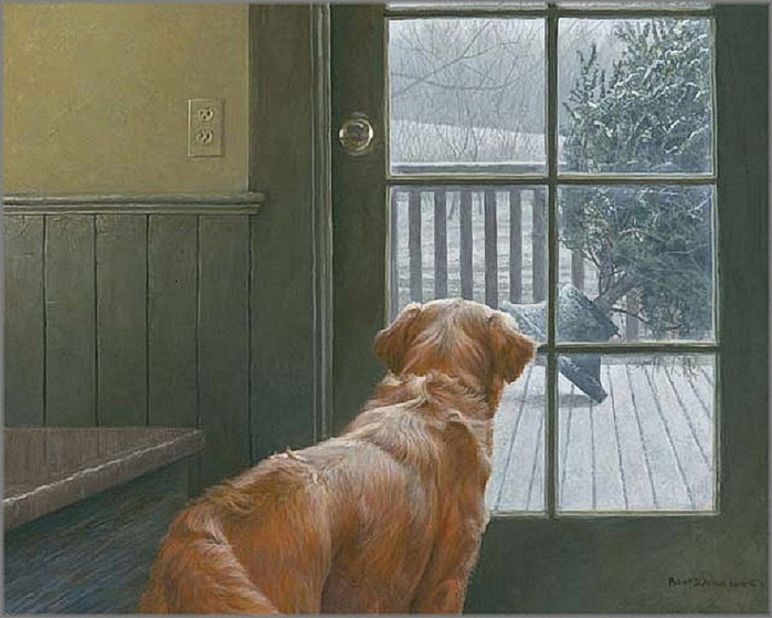 Robert Bateman - Observing Christmas (700x559, 281Kb)