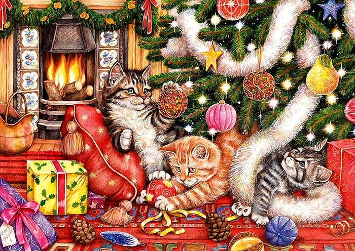 Debbie Cook (b.1963)Christmas Time (700x496, 409Kb)