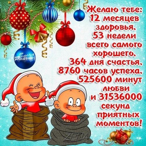 Новогодние поздравления прикольные другу