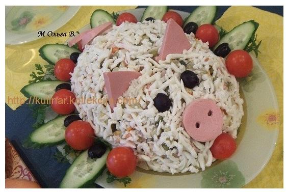 Салат на день рождения оливье