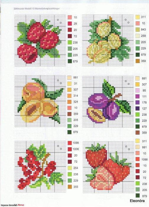 Схемы для вышивки крестиком фрукты 70