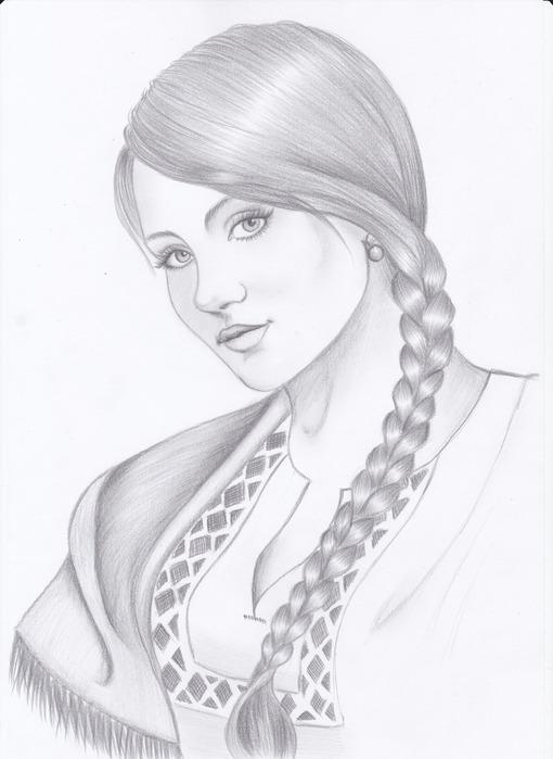 красавица рисунок:
