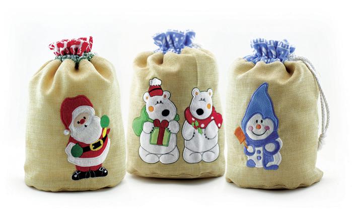 Мешки новогодние для подарков своими руками