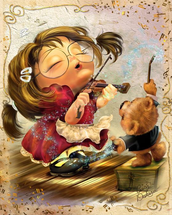 Иллюстрации . Cris de Lara - бразильская художница из Канады .4 (559x700, 270Kb)