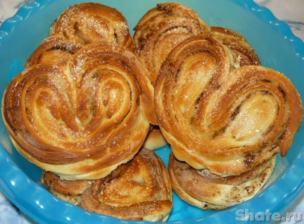булочки с сахаром и корицей рецепт с фото