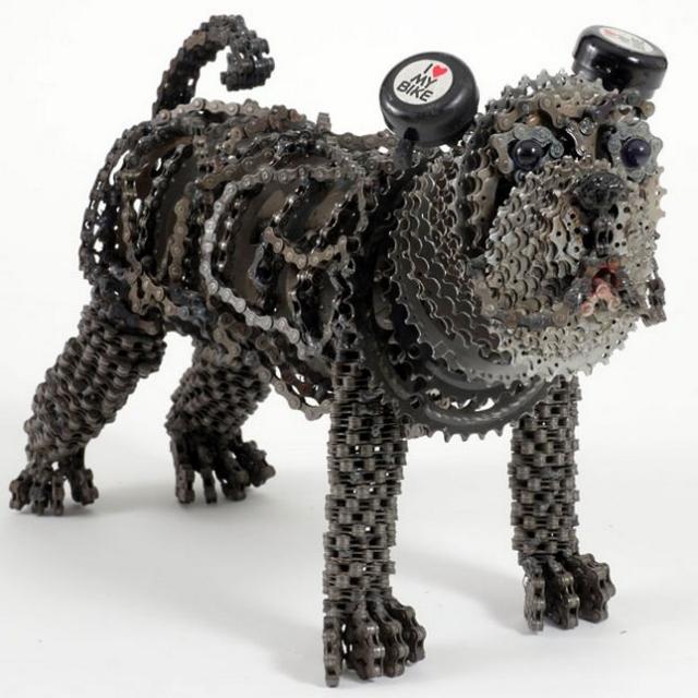скульптуры собак из велосипедных деталей 5 (640x640, 228Kb)