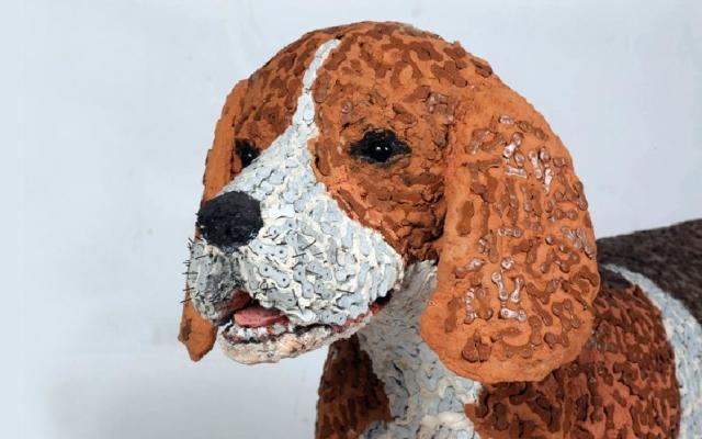 скульптуры собак из велосипедных деталей 11 (640x400, 177Kb)