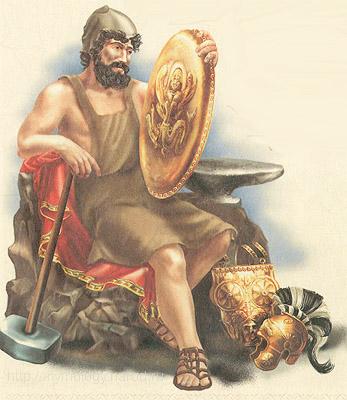 Гефест в греческой мифологии - Бог огня, покровитель кузнечного ремесла.  Гефест - сын Зевса и Геры.