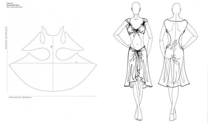 Простые выкройки пляжных платьев 12