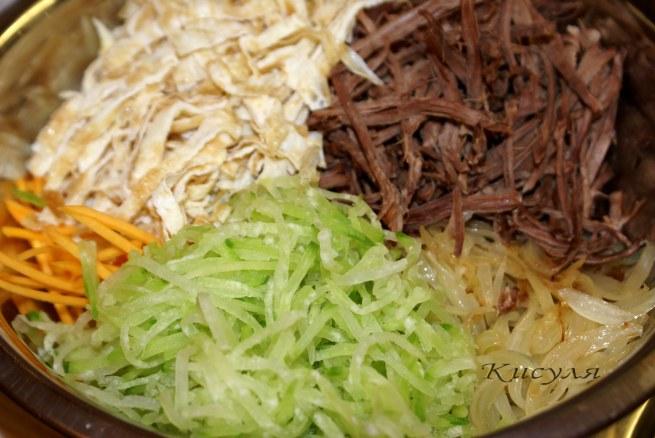 Салат с дайконом и мясом рецепт
