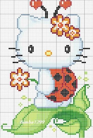 Hello Kitty (вышивка 21 схема)
