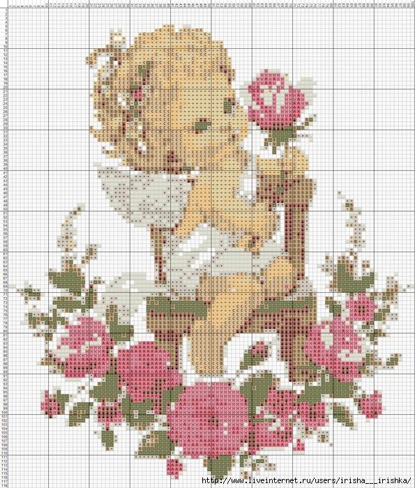 Схема ангелочка для вышивки