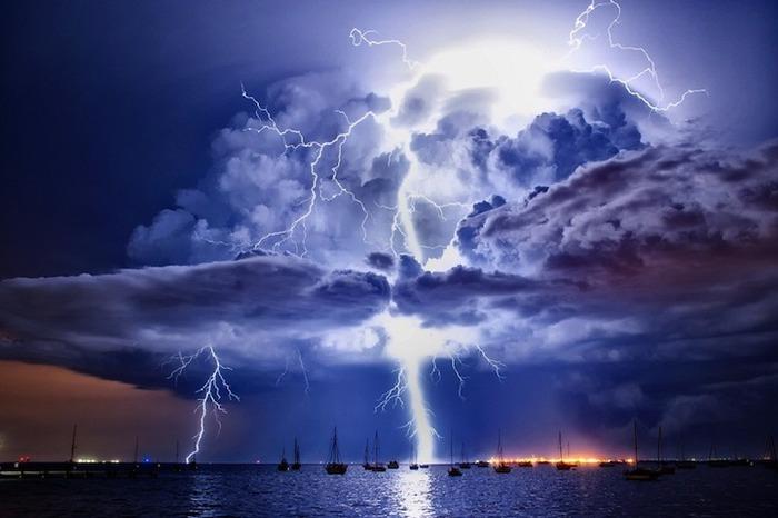 Красивые фотографии неба, молний (грозы), облаков