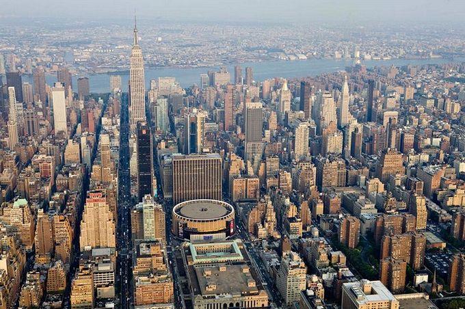 нью-йорк фото с высоты птичьего полета 11 (680x452, 110Kb)