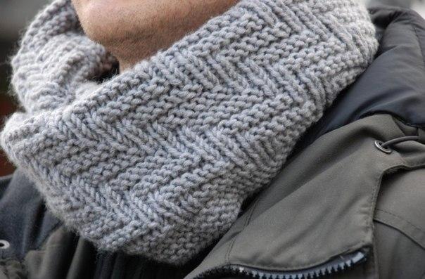 Вязание мужского шарфа схема фото 421