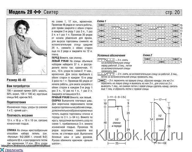 описание розового пуловера (640x507, 81Kb)