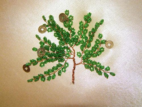 Дерево из бисера фото и схема