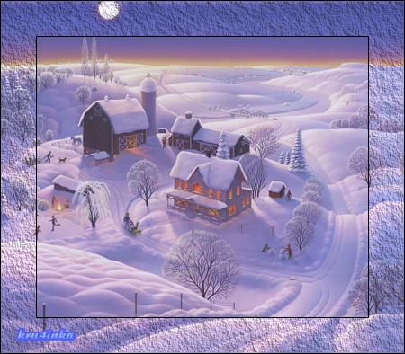 Зима-в-деревне (450x394, 393Kb)