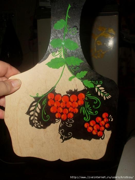 Рисунки акриловыми красками на доске