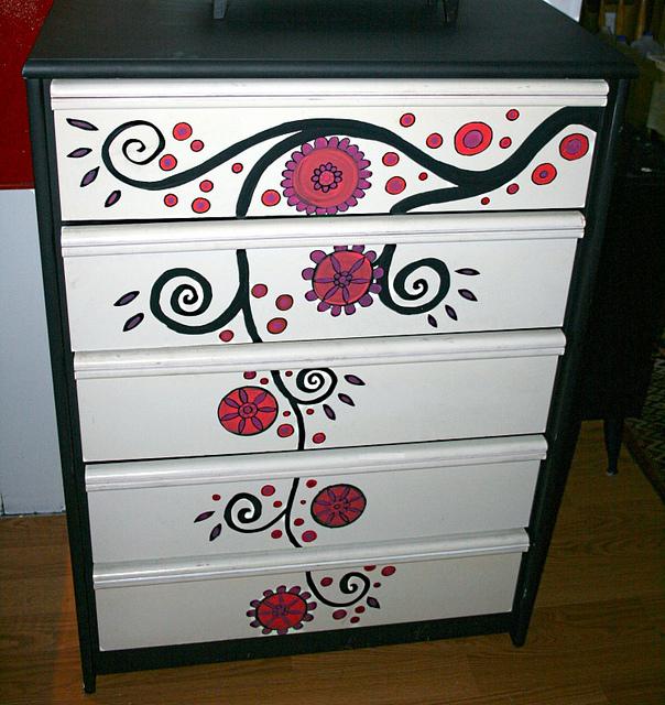 Рик Чидл: чудесные идеи росписи мебели. 59661