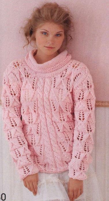 вязаный пуловер 30 1 (378x700, 232Kb)