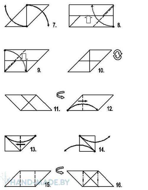и сборке кубика оригами.