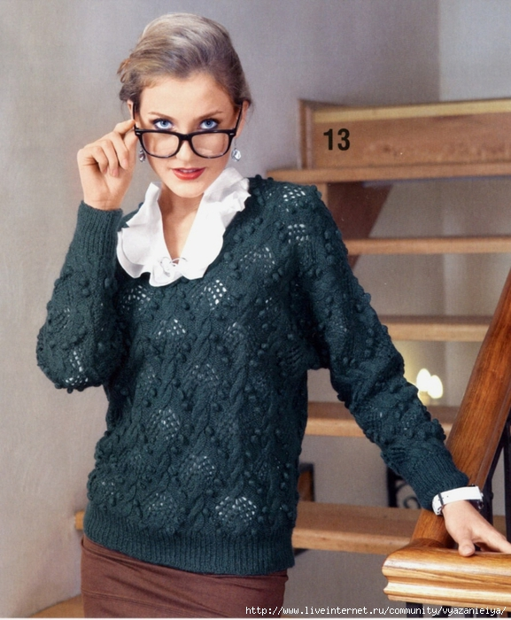вязаные пуловер (577x700, 301Kb)