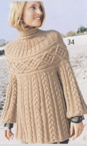 Вязаный пуловер Шамони (360x606, 183Kb)