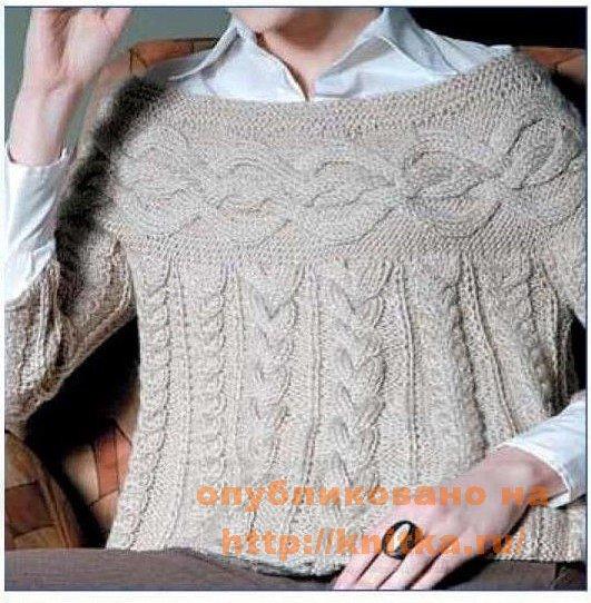 Вязаный пуловер Шамони 7 (531x542, 82Kb)