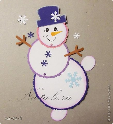 Открытки со снеговиками своими руками