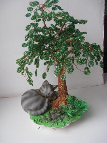 Деревья из бисера.1.