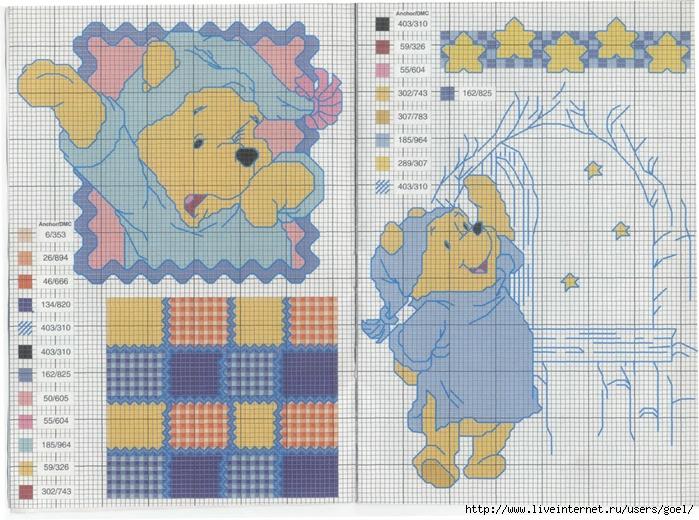 бесплатно схемы детские крестиком
