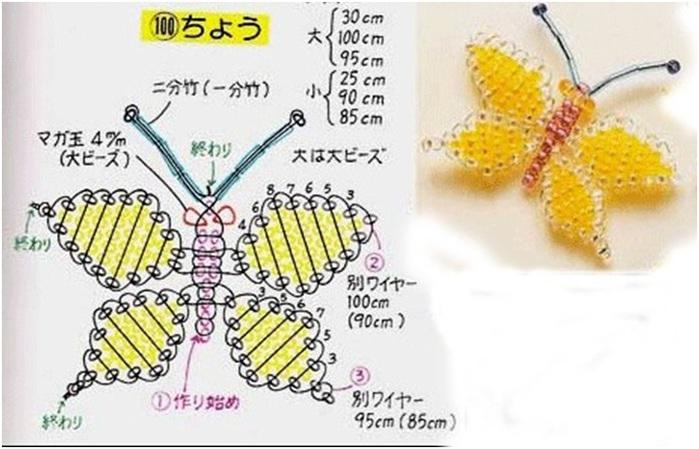 13 июн 2013 плетение из бисера бабочки, бабочки из бисера схемы, схемы бабочек из бисера, как плести бабочку из...