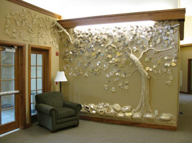 Декор на стенах из гипса