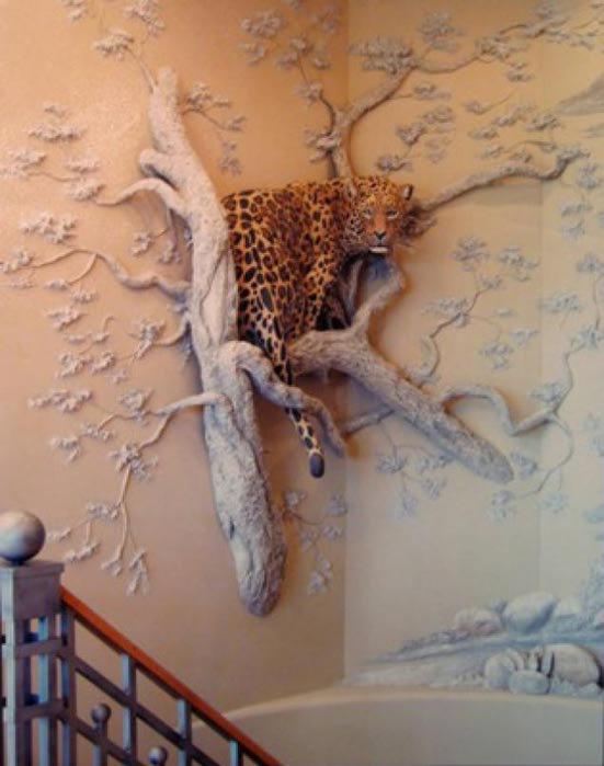 Деревья из гипса своими руками на стене