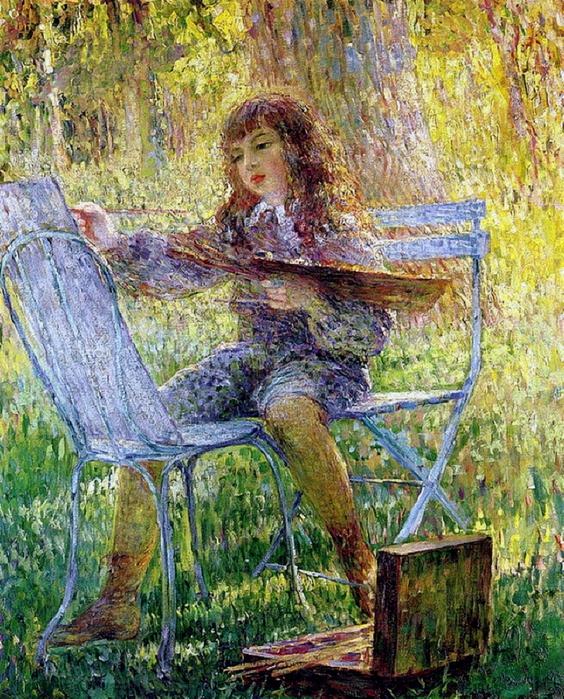 Henri Lebasque. Young Painter (564x700, 435Kb)