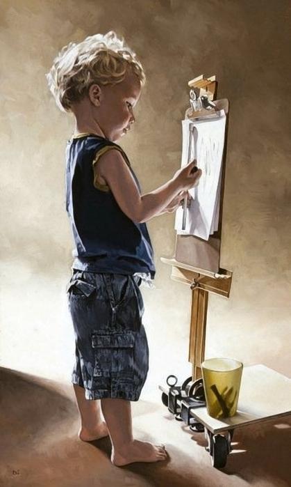 The Artist's Son, artist Bryan Larsen (419x700, 184Kb)
